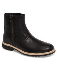 Ugg | Ugg Dalvin Zip Boot With Genuine Shearling | Lyst