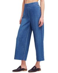Free People - We The Free By High Waist Crop Wide Leg Jeans - Lyst