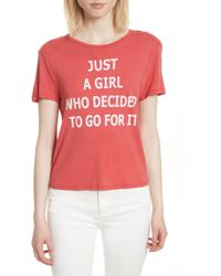 AO.LA by alice + olivia - Ao. La Just A Girl Cicely Classic Tee - Lyst
