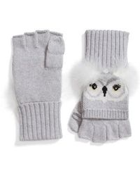 Kate Spade - Who Me Owl Merino Wool Pop-top Mittens - Lyst