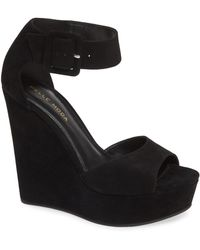 Pelle Moda - Ojai (black Suede) Women's Wedge Shoes - Lyst