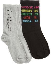 Sockart - Drinking 2-pack Crew Socks, Grey - Lyst