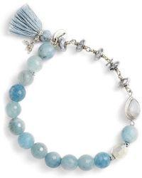 Chan Luu - Aquamarine Stretch Bracelet - Lyst