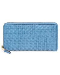 Cole Haan - Zoe Woven Rfid Leather Continental Zip Wallet - Lyst