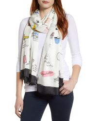 Kate Spade - Ny Culture Oblong Scarf - Lyst