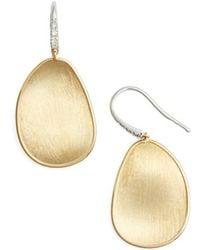 Marco Bicego - Lunaria Diamond & Gold Drop Earrings - Lyst