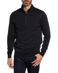 Bugatchi Regular Fit Pullover Sweatshirt - Blue