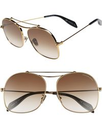 Alexander McQueen - 59mm Aviator Sunglasses - Lyst