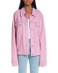 Martine Rose - Tie Dye Denim Jacket - Lyst