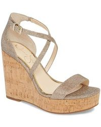 Jessica Simpson - Stassi Cross Strap Wedge Sandal - Lyst