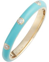 EF Collection - Diamond Enamel Stacking Ring - Lyst