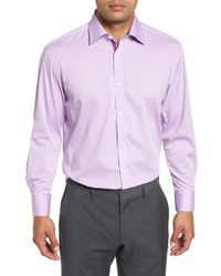 English Laundry - Regular Fit Geometric Dress Shirt - Lyst