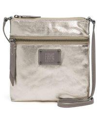 Frye - Ivy Metallic Nylon Crossbody Bag - Lyst