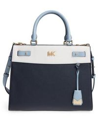 Michael Kors | Reagan Large Leather Satchel | Lyst