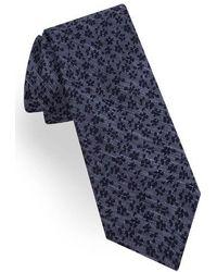 Ted Baker - Floral Silk & Linen Skinny Tie - Lyst