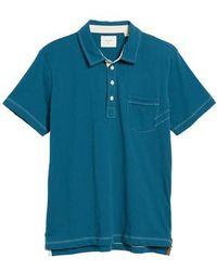 Billy Reid | Pensacola Slim Fit Polo | Lyst