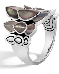 John Hardy - 'legends Naga' Mother Of Pearl Silver Small Saddle Ring - Lyst