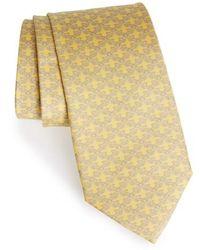Ferragamo - Bird Print Silk Tie - Lyst