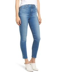PAIGE - Transcend - Margot High Waist Ankle Ultra Skinny Jeans - Lyst