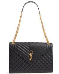 Saint Laurent - Large Cassandra Calfskin Shoulder Bag - - Lyst