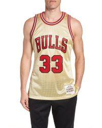 Mitchell & Ness - Nba Gold Pippen Jersey - Lyst