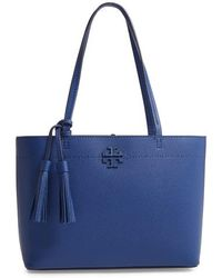 Tory Burch - Small Mcgraw Leather Tote - Lyst
