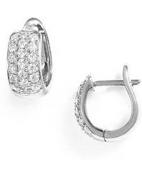 Dana Rebecca - Dana Rebecca Mini Diamond Hoop Earrings - Lyst