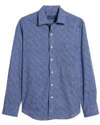 David Donahue - Regular Fit Microprint Sport Shirt - Lyst