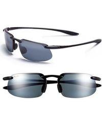 Maui Jim - 'kanaha - Polarizedplus2' 62mm Sunglasses - Gloss Black/ Grey - Lyst