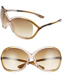 41b4d221e21f7 Tom Ford Whitney Polarized Cross Sunglasses in Black - Lyst