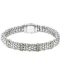 Lagos - 'enso' Two-tone Rope Caviar(tm) Bracelet - Lyst