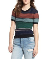 RVCA - Brightside Stripe Knit Sweater - Lyst