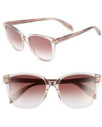 Alexander McQueen - 56mm Sunglasses - Shiny Pink Havana - Lyst