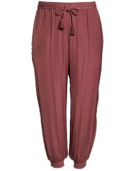 Vince Camuto - Hammered Smocked Cuff Jogger Pants - Lyst
