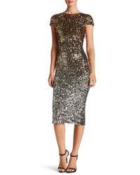 Dress the Population - Marcella Ombre Sequin Body-con Dress - Lyst