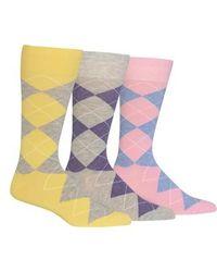 Polo Ralph Lauren | 3-pack Argyle Socks, Yellow | Lyst