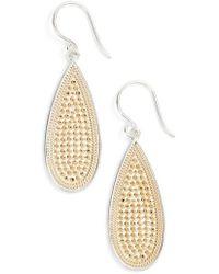 Anna Beck | Long Oval Drop Earrings | Lyst