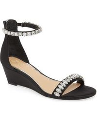 Badgley Mischka - Mel Wedge Sandal - Lyst
