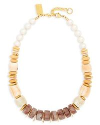 Lizzie Fortunato - Pink Sands Freshwater Pearl Collar Necklace - Lyst
