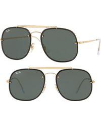 Ray-Ban Blaze General 58mm Aviator Sunglasses - Metallic