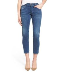 Citizens of Humanity - 'elsa' Crop Slim Jeans - Lyst