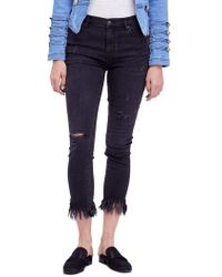 Free People - We The Free By Great Heights Frayed Skinny Jeans - Lyst