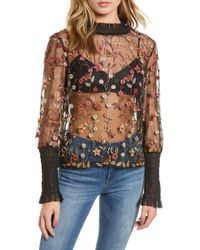 Endless Rose - Embroidered Mesh Top - Lyst