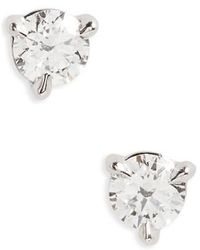 Kwiat - 0.33ct Tw Diamond & Platinum Stud Earrings - Lyst
