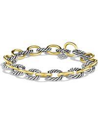 David Yurman - 'oval' Large Link Bracelet With Gold - Lyst