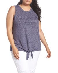 Lucky Brand - Flag Tie Front Tank - Lyst
