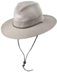 6c34ecacb638f Dorfman Pacific Long Bill Fishing Hat in Gray for Men - Lyst
