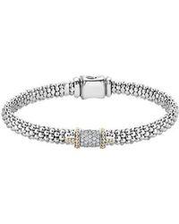 Lagos - Diamond Caviar Bracelet - Lyst