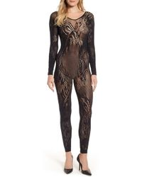 Natori - Feathers Long Sleeve Catsuit - Lyst