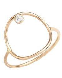 Zoe Chicco - Diamond Circle Ring - Lyst